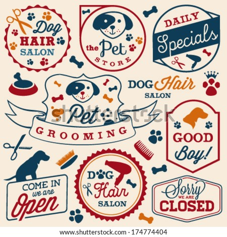 collection of pet hair salon