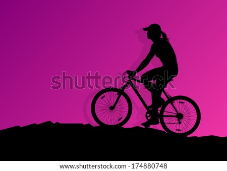 active woman cyclist bicycle