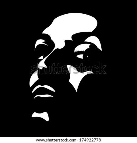 vector clip art portrait of a