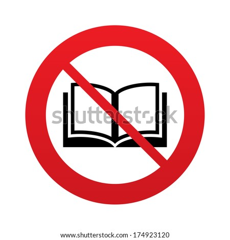 don t read book sign icon