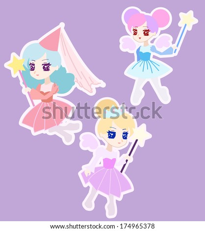 cute fairy princess character