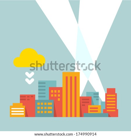 flat style illustration modern