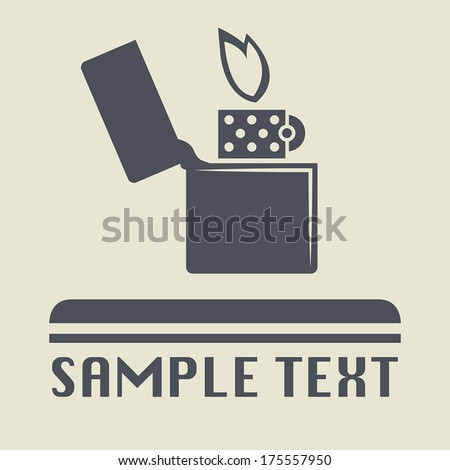 lighter icon or sign  vector
