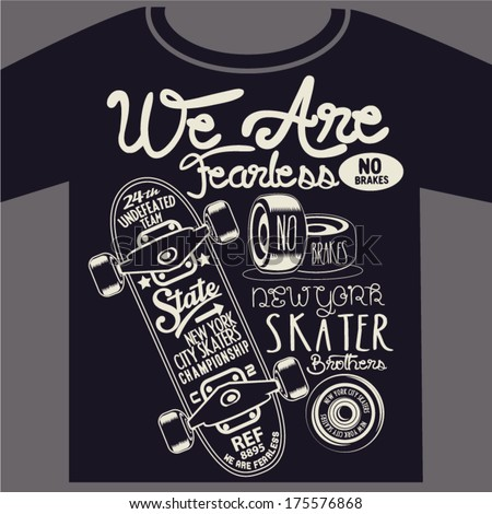 skateboard graphic design for t