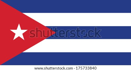 vector background of cuba flag