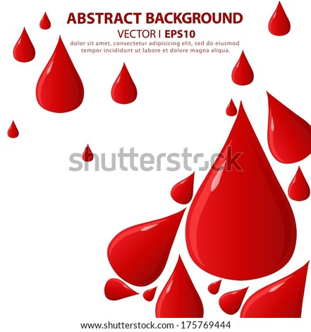3d drop of blood isolated on