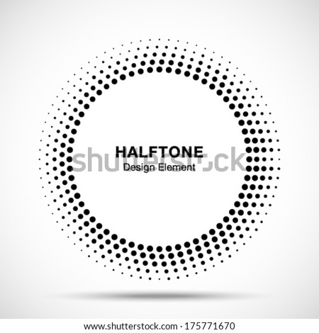 black abstract halftone logo