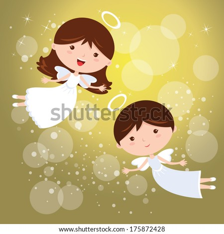angels  vector illustration of