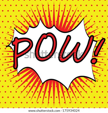 pow comic cartoon background
