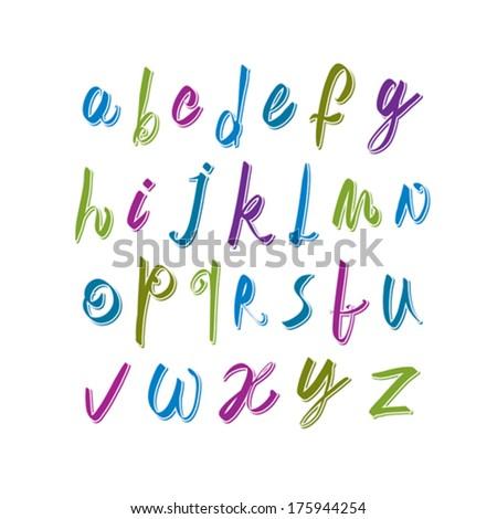 calligraphic script font