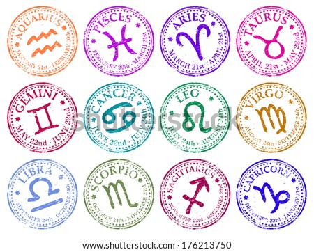 star sign rubber stamp vector