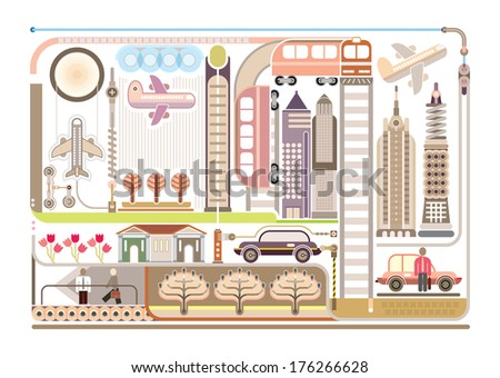 airport   isolated vector