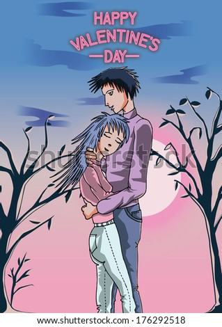 manga valentines day couple