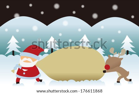 santa and reindeer who lost sled