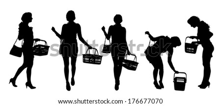 vector silhouette of a woman