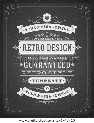 retro typographic design