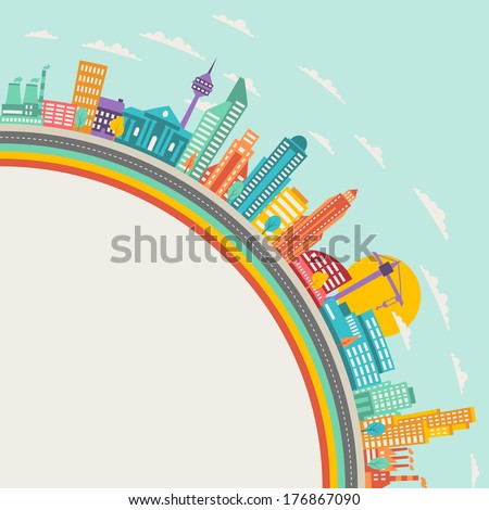 cityscape background with