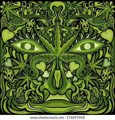 marijuana face character