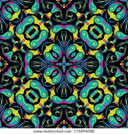 psychedelic bird texture vector