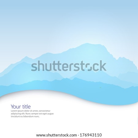 vector mont blanc background