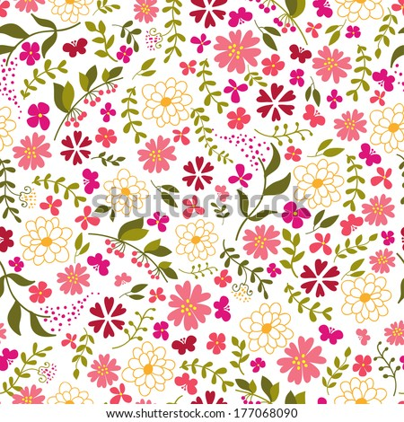 seamless pattern from spring