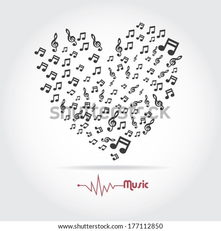 my heart is music   concept of