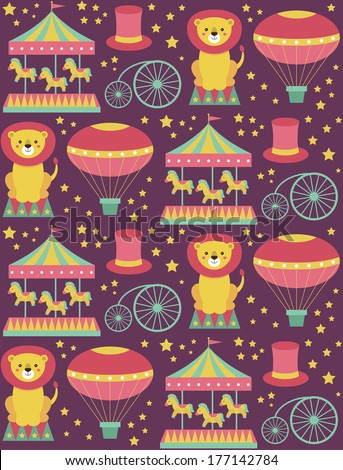 seamless circus pattern design