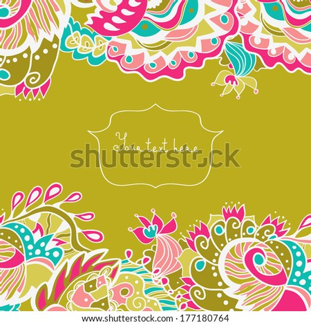 invitation card with ornate