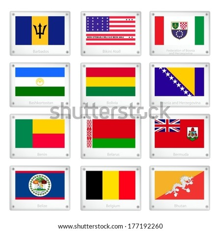 national flags of barbados