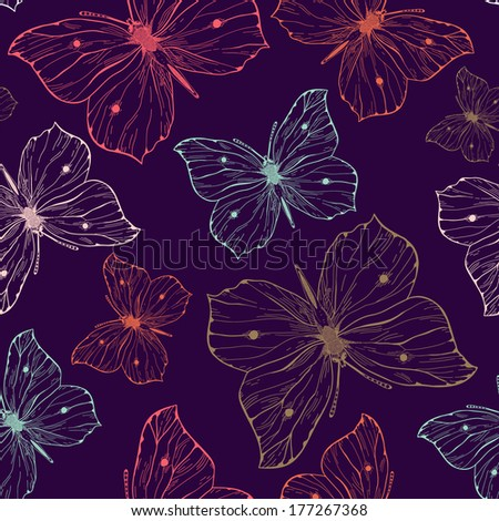 elegant seamless pattern with
