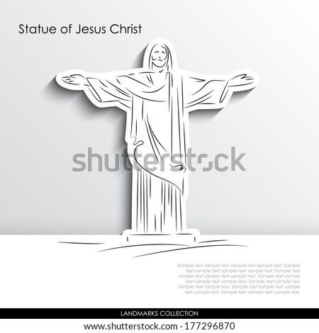 statue of jesus christ abstract