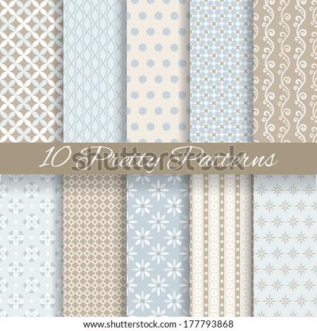 10 pretty pastel vector