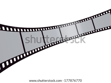 vector film strip 3d