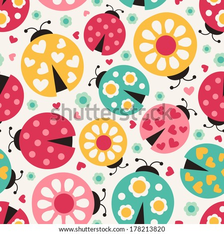 seamless ladybug background