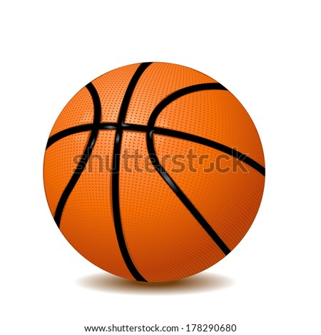 basketball vector on a white