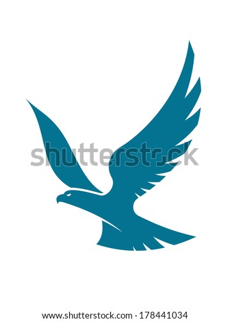 graceful flying eagle logo