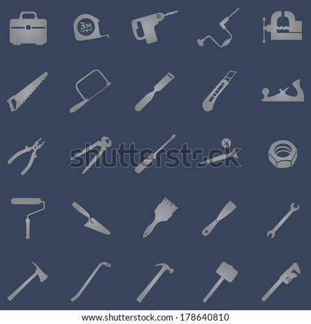 vector set of 25 grey work