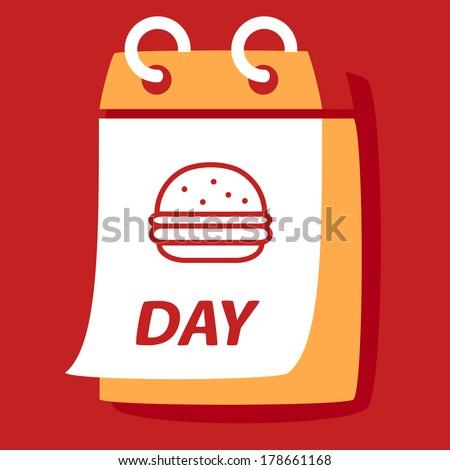 calendar with a burger day