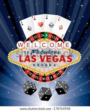las vegas gambling  vector