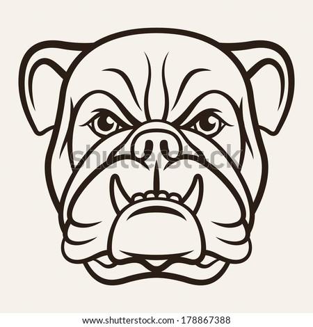 Bulldog Silhouette Vector Vector Bulldog Silhouette