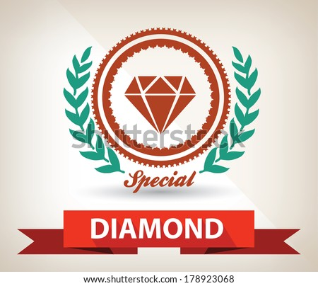 diamond badge vector