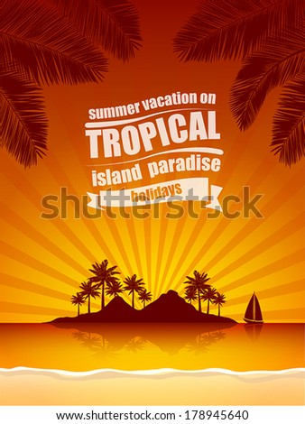 summer vacation on tropical