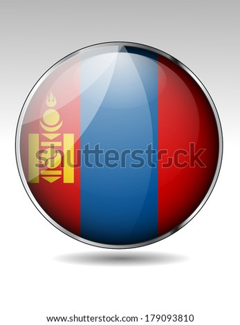 mongolia flag button