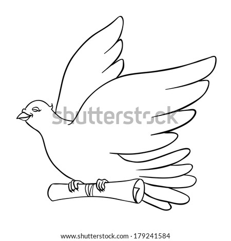 white dove with a message on a