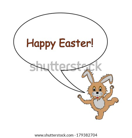 a funny cartoon easter bunny