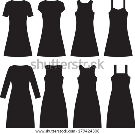 different women dresses vector