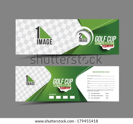 golf cup header   banner design