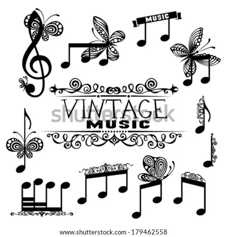 music design elements set of
