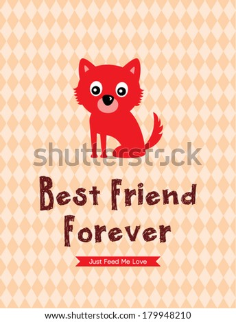 best friend forever puppy poster