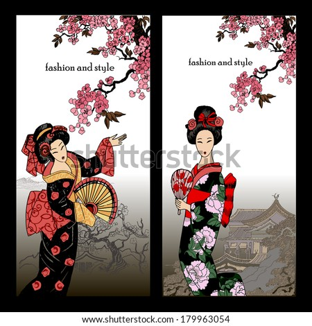 beautiful oriental banners